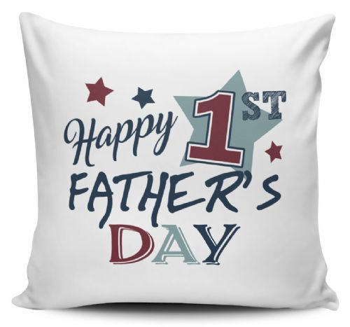 Happy 1st Father's Day Cushion Cover